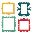 set hand drawn frames vector image vector image