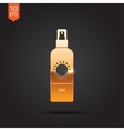 set of flat bottles vector image vector image