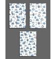 Set of greeting card templates with arctic vector image vector image
