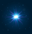 shining star explosion light effect lens flare vector image vector image