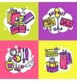 shopping design concept vector image