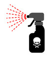 sprayer with poison dangerous poisonous liquid vector image