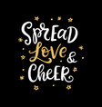 spread love and cheer christmas ink lettering vector image vector image