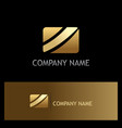 square stripe gold business logo vector image