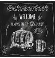Tap beer design blackboard placard vector image