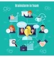 Teamwork Flat Concept vector image