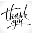 thank you modern calligraphy vector image vector image