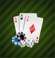 the set casino elements vector image vector image