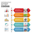 timeline infographic chart with many color design vector image vector image