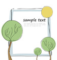 tree and frame vector image vector image