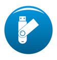 usb device icon blue vector image vector image