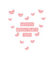 valentine or romantic day abstract love card vector image vector image