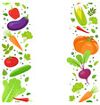 vertical seamless borde of vegetables vector image