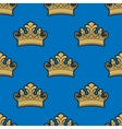 Victorian golden crowns seamless pattern vector image vector image