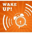 Wake up alarm vector image vector image