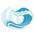Sea wave symbol 2 vector image