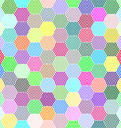 Abstract Hexagon Dots background vector image vector image