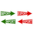 arrow pointer import export pointers vector image