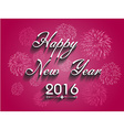 Beautiful text Happy New Year 2016 with fireworks vector image vector image
