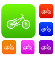 bike set collection vector image vector image