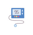 blue glucose meter isolated on white background vector image vector image