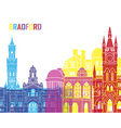 Bradford skyline pop vector image vector image
