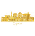 cayenne french guiana city skyline silhouette vector image vector image