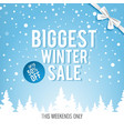 christmas biggest winter sale poster vector image vector image