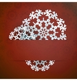Christmas snowflake applique EPS10 vector image vector image