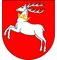 coat of arms of lublin in southeastern poland vector image vector image