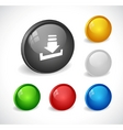 color 3d buttons for web vector image vector image