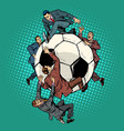 competition of politicians for football soccer vector image