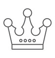 crown thin line icon jewellery and accessory vector image