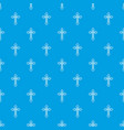 crucifix pattern seamless blue vector image vector image