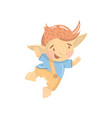 cute smiling troll boy character funny creature vector image