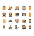 device simple color flat icons set vector image vector image