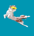 dog is jumping vector image vector image