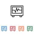 electrocardiogram icon vector image vector image