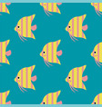 Exotic tropical fish race seamless pattern