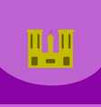 flat icon on purple square arabic mosque with the vector image vector image