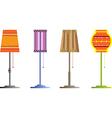 floor lamps vector image
