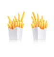 french-fried potatoes vector image vector image