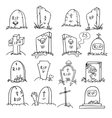 grave doodle vector image