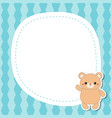 greeting card with cute bear greeting card with vector image vector image