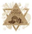 Hand drawn eco food background