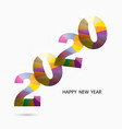 happy new year 2020 backgroundcolorful greeting vector image vector image