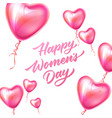 happy womens day lettering 8 march balloon vector image vector image