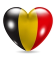 Heart shaped icon with flag of Belgium vector image vector image