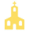 hexagon halftone christian church icon vector image vector image