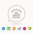 hotel icon five stars service sign vector image